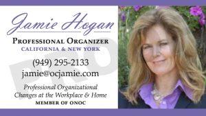 ORGANIZING BUSINESS CARD